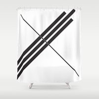 depeche mode Shower Curtains featuring Mode by Alexander Studios