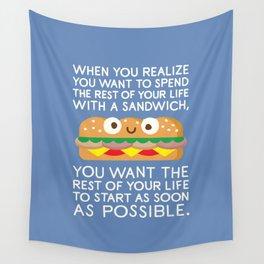 When Harry Met Sandwich Wall Tapestry