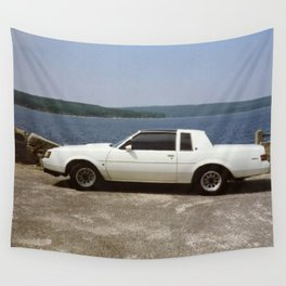 1987 Grand National Regal T-type Turbo in white Wall Tapestry