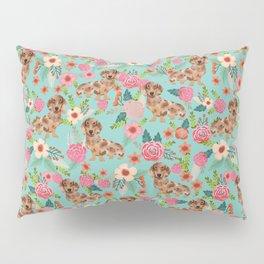 Dapple Dachshund cream doxie lover floral must have gifts dachsie flowers Pillow Sham