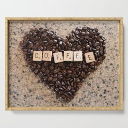 Love Coffee Serving Tray