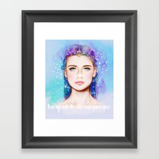 Look up into the stars and you're gone. Framed Art Print
