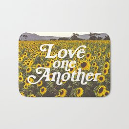 Love One Another Sunflowers Bath Mat