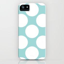 Polka Dots Blue iPhone Case