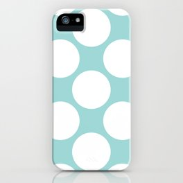 Polka Dots Blue iPhone Case