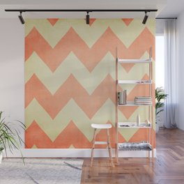 Fuzzy Navel - Peach Chevron Wall Mural