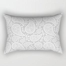 Paisley (White & Gray Pattern) Rectangular Pillow