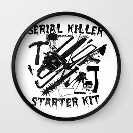 SERIAL KILLER STARTER KIT. Wall Clock