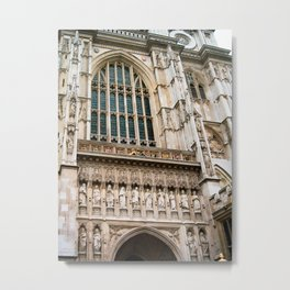 Gothic Westminster Abbey London Photo by Larry Simpson Metal Print