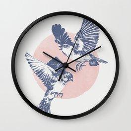 Sparrows II Wall Clock