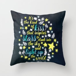 Shatter Me - Stars quote design Throw Pillow