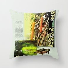 Red-Eared Turtle Throw Pillow