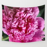 peony Wall Tapestries featuring Peony by IowaShots