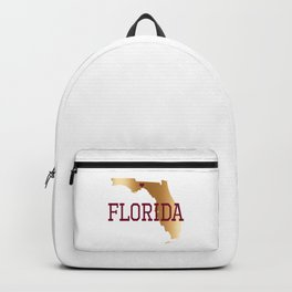 Florida Gold and Garnet with State Capital Typography Backpack