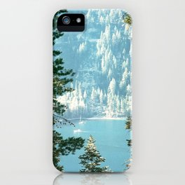 Lake Tahoe Through the Trees iPhone Case
