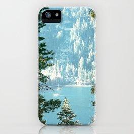 Lake Tahoe Through the Trees iPhone Case