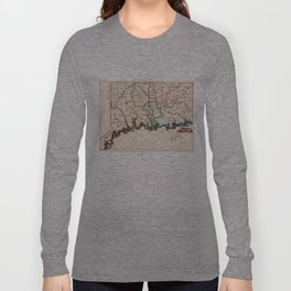 Vintage Map of Connecticut (1819) Long Sleeve T-shirt