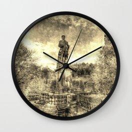 Allan Ramsey And Edinburgh Castle Vintage Wall Clock