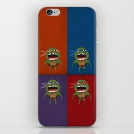 Screaming Turtles iPhone Skin