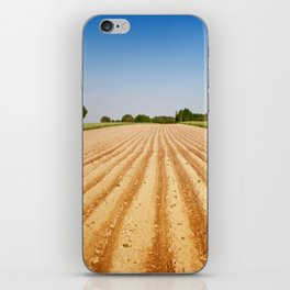Ploughed agriculture field empty iPhone Skin