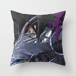 Messy entangled abstract matter Throw Pillow