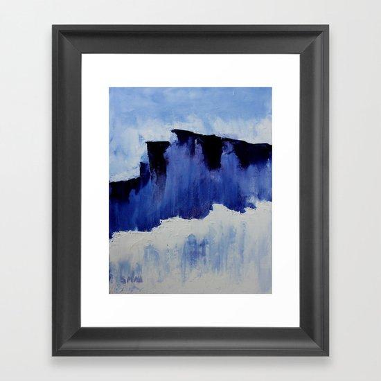 Cold Blue Framed Art Print