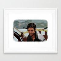 hook Framed Art Prints featuring Hook by MagnoliaRuby