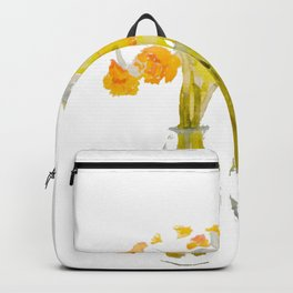 Daffodils watercolor Backpack