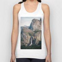 yosemite Tank Tops featuring Yosemite Waterfall by Laura Ruth
