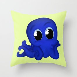 Octobaby Yellow Throw Pillow