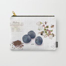 Blueberry and Pollinators Carry-All Pouch