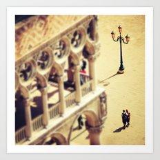 Lovers Venice Italy Travel Photography Art Print