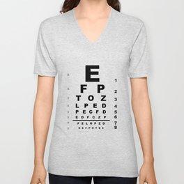 Eye Test Chart Unisex V-Neck