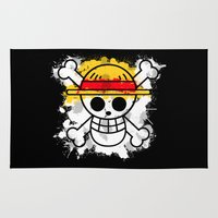 luffy Area & Throw Rugs featuring Straw Hat Pirates by rKrovs