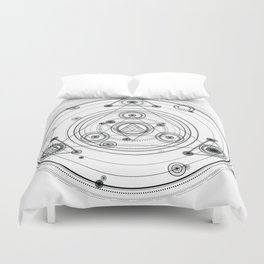 Sacred geometry and geometric alchemy design Duvet Cover