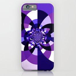 Purple Kaleidoscope Mandala iPhone Case