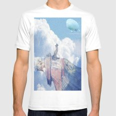 Jack in the sky  White Mens Fitted Tee MEDIUM