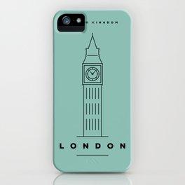 Minimal London City Poster iPhone Case