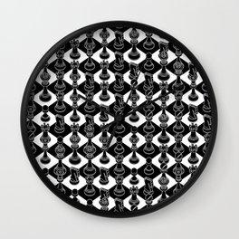 Isometric Chess BLACK Wall Clock