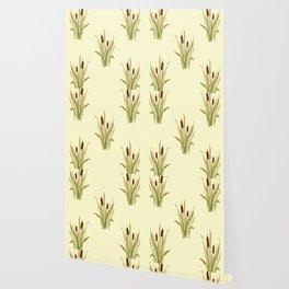 summer cattails Wallpaper