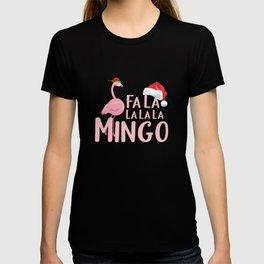 Cristmas Flamingo Santa Claus T-shirt