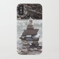allyson johnson iPhone & iPod Cases featuring Johnson Canyon Inukshuk by RMK Creative