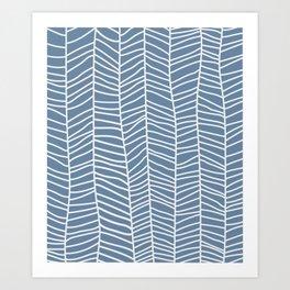 Baesic Herringbone (Denim) Art Print