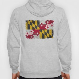 Maryland State flag - Vintage retro style Hoody