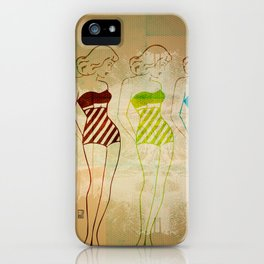 Retro Swimsuit iPhone Case