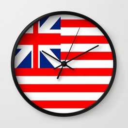 Authentic Original American Flag Wall Clock