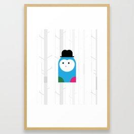 THE MISSING SCARF - Owl Framed Art Print