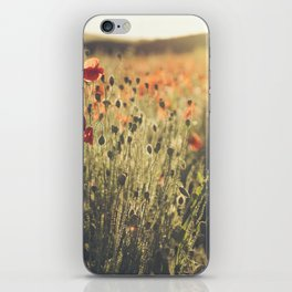 Wildflower Poppy Fields. iPhone Skin