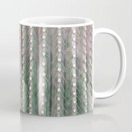 CACTUS NEEDLES PATTERN, closeup green succulent Coffee Mug
