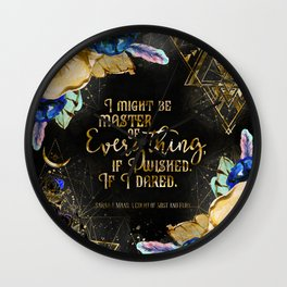 Master of Everything (ACOMAF) Wall Clock